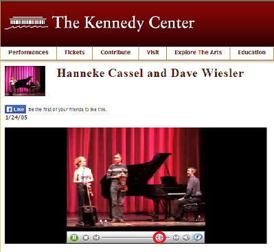 With Hanneke Cassel and Dave Wiesler at the Kennedy Center Millennium Stage